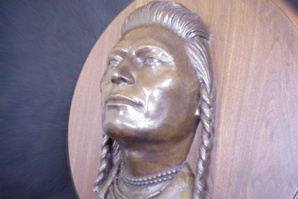Nez Perce Native American Limited Edition Bronze Sculpture by Dan Skinner