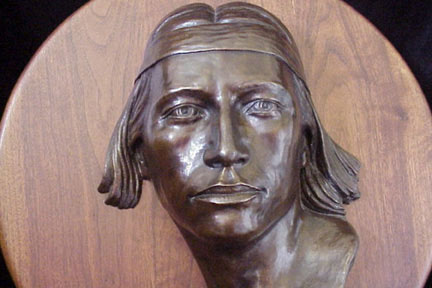 Native American Limited Edition Bronze Sculpture by Dan Skinner